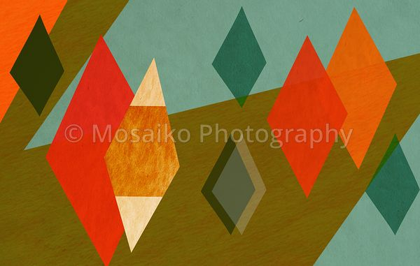colourful graphic shapes - paper texture - background design