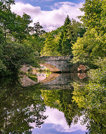 Calver Bridge and reflections