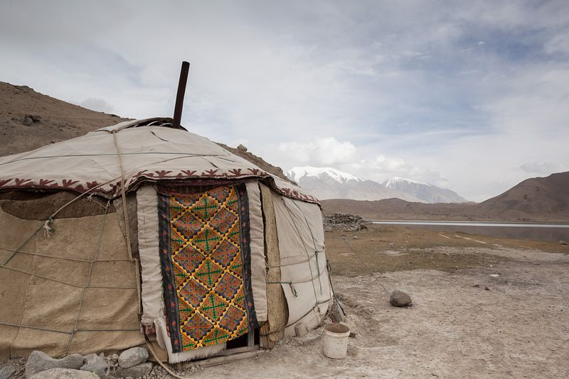 Typical kyrgyz yurt, Xinjiang, China