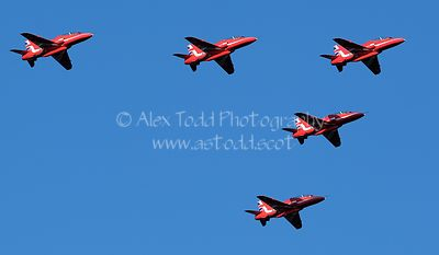 Red Arrows over Livingston, 24 August 2020