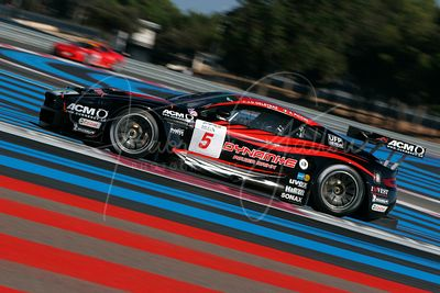 Andrea Piccini (IT) et Jean-Denis Deletraz (CH), Aston Martin DBR9. Phoenix Racing. Action.
