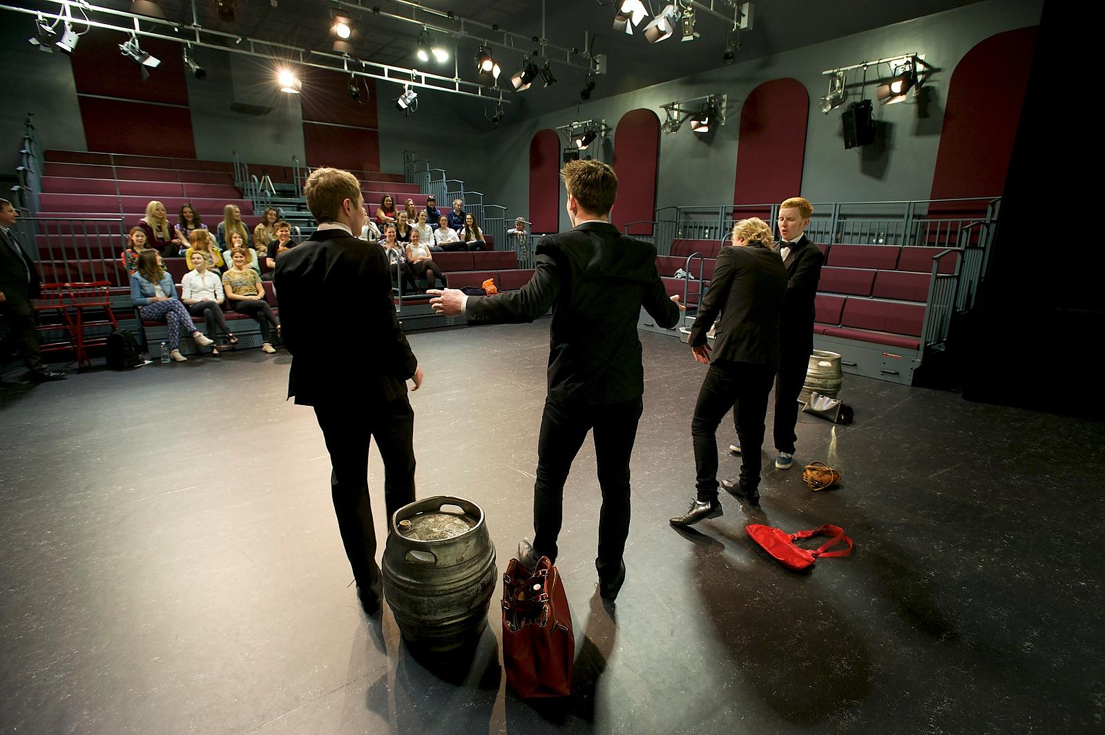 Paston Sixth Form College has spent £1.5M revamping it's theatre and art based courses building pictured  are drama students ...