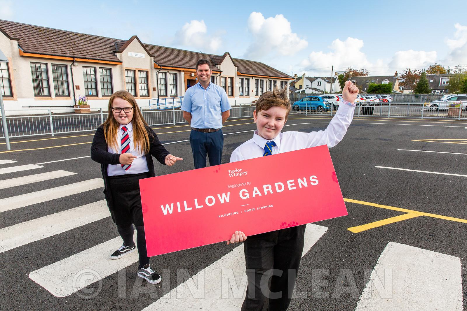 Abbey Primary School, Kilwinning..1.10.20..Winners of the Taylor Wimpey naming competition at Abbey Primary School today..Pic...