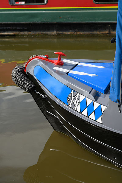 Narrowboat bow