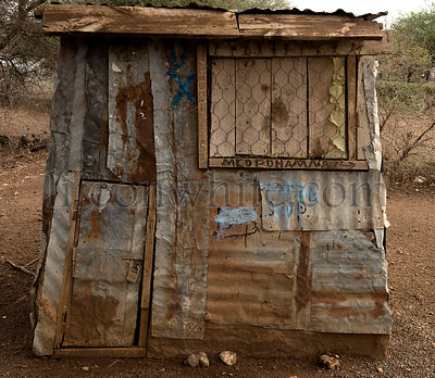 Little shop made with sheet metal, Africa, Tanzania