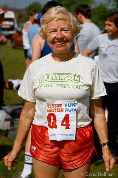 Madge Sharples, aka Marathon Madge, continued running and raising money for charity in her seventies even after having two ar...