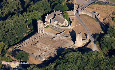 Farleigh Hungerford Castle, from the air