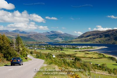 Image - Ullapool view and car on road, Scotland