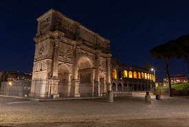 Centre of Rome deserted on a Saturday night, Rome, Italy, 2, May, 2020