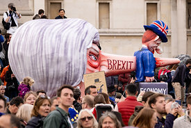 #124597,  Anti-Brexit march to Parliament Square, London, 23rd March 2019.  A million people of all ages marched demanding a ...