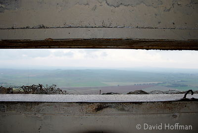 View from a bunker in the Golan Heights