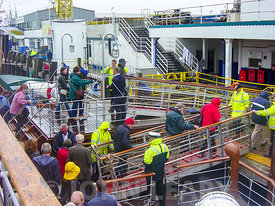 Passengers Disembarking the Paddle Steamer Waverley.