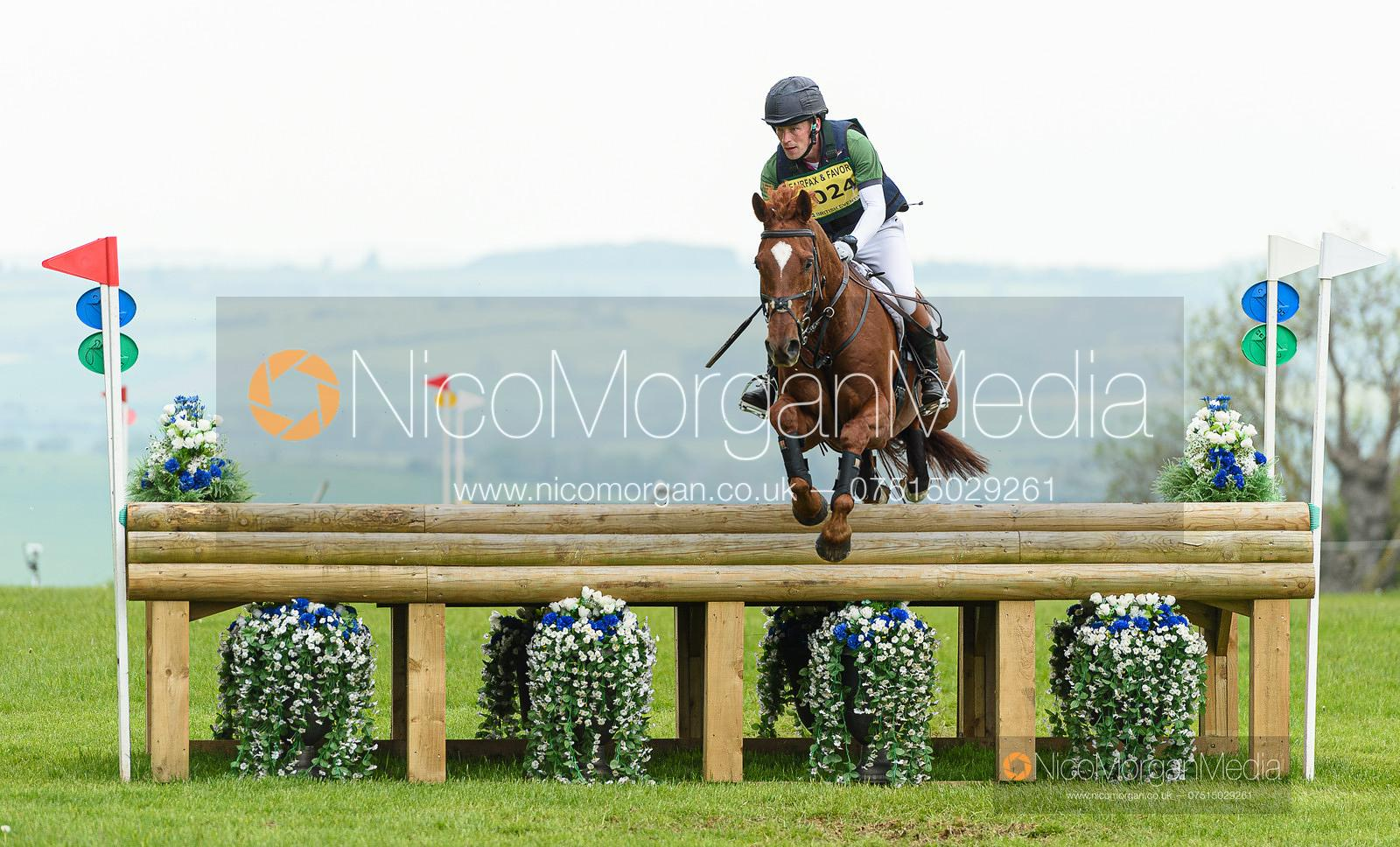 Simon Grieve and MR FAHRENHEIT III, Fairfax & Favor Rockingham Horse Trials 2019.