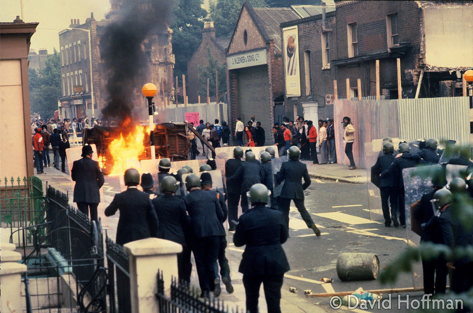 Railton Road, Brixton - the Frontline. Rioting July 1981.