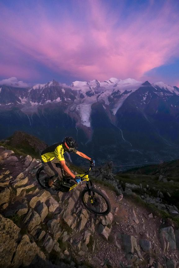 Downhill at sunset with Gael wirz