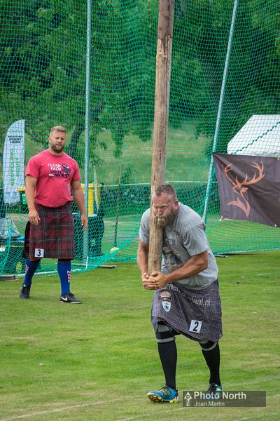 ISLE OF MULL 90AD - Caber Tossing, Mull Highland Games