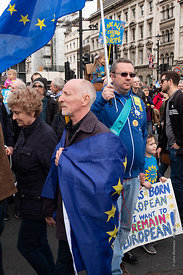 #124574,  Anti-Brexit march to Parliament Square, London, 23rd March 2019.  A million people of all ages marched demanding a ...