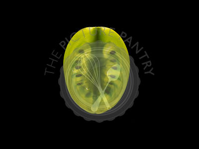 Backlit portrait of a green tomato slice