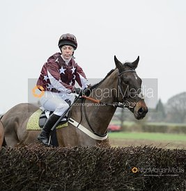 Miss A. Martin and TUNDER STRIKE - Race 5 - Restricted - The Midlands Area Club at Thorpe Lodge 26/1