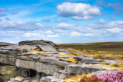 Stanage edge in Peak District.
