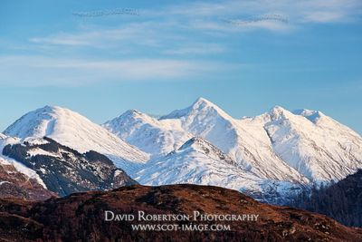 Image - The Five Sisters of Kintail, Highland, Scotland in winter