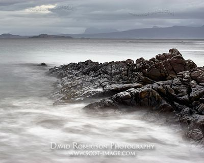 Image - Rocks on Sunrise at Mellon Udrigle beach, Gruinard Bay, Wester Ross, Highland, Scotland.