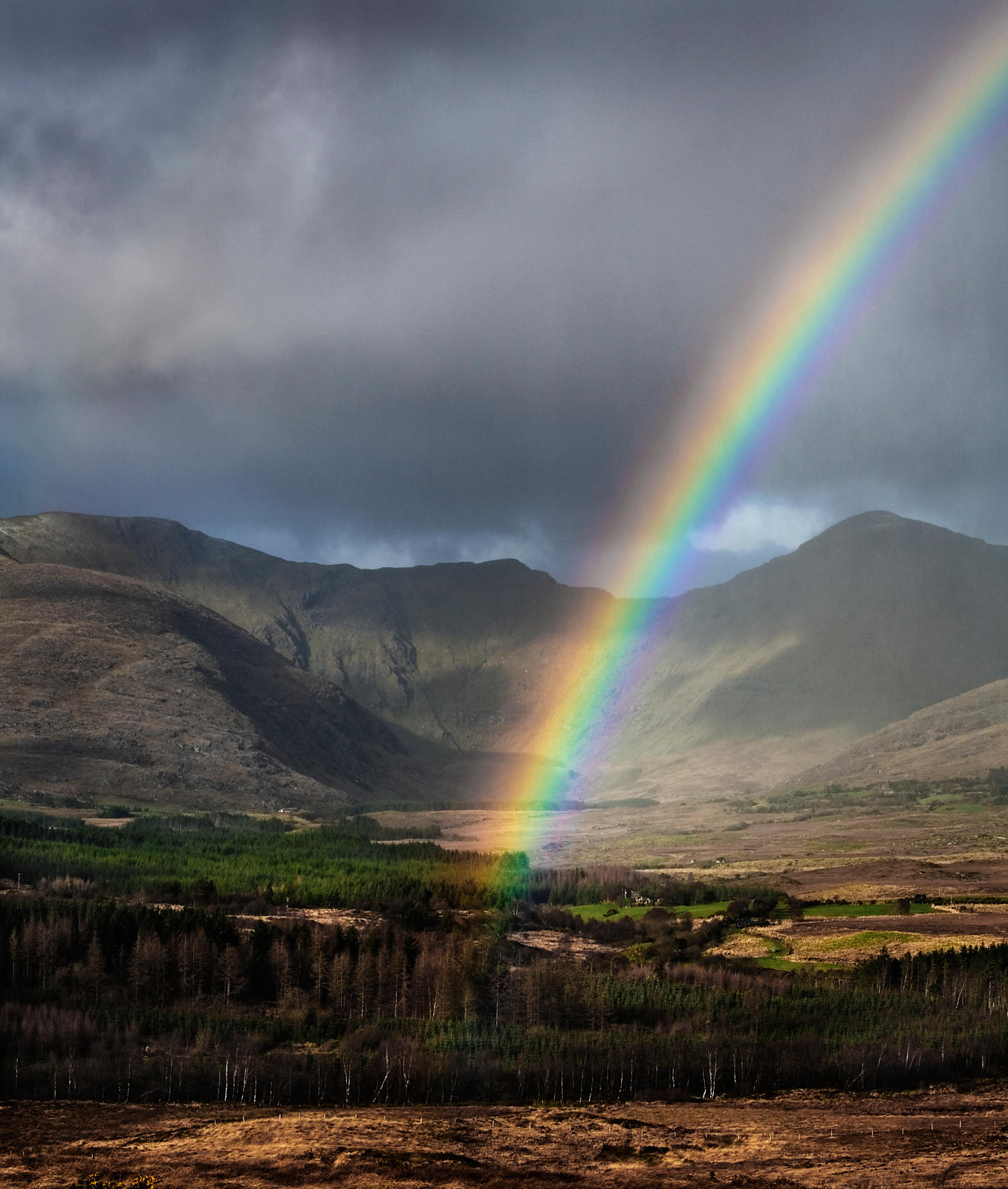 Rainbow in Kerry, on the west-coast of Ireland