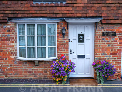 English cottages in village, Bray, Berkshire
