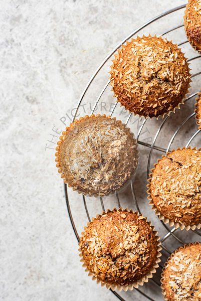 Coconut Banana Chocolate Chunk Muffins
