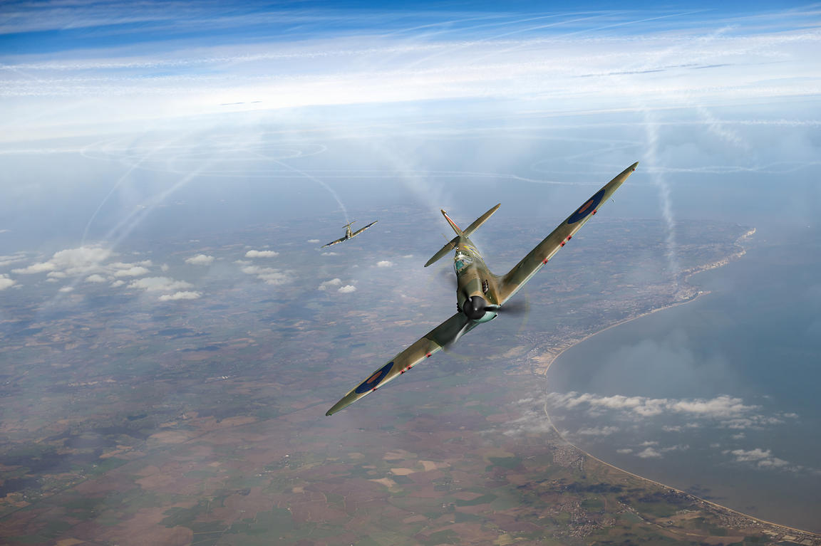 Battle of Britain Spitfires over Kent