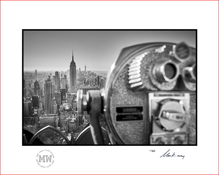Linited edition wall print Empire State building