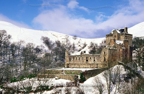Image - Castle Campbell in winter, Dollar, Clackmannanshire, Scotland