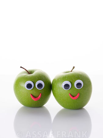Funny green apples