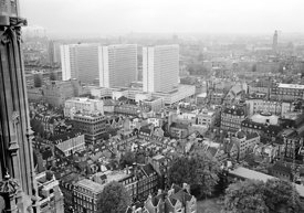 #124527,  View from the Victoria Tower, Houses of Parliament, 1973.