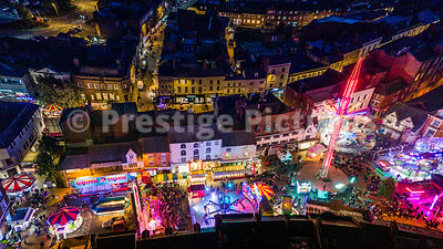 Aerial view of Banbury Fair in Market Place