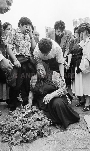 England, UK. 12.6.1993. London. The mother of Ruhullah Aramesh, an Afghan refugee beaten to death by a gang of white racist t...