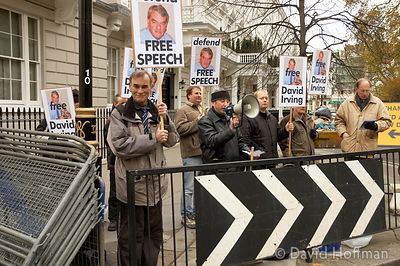 BNP demo in support of David Irving