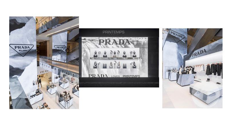 PHOTOGRAPHE PARIS BOUTIQUE POP UP PRADA ABSTRACT LE PRINTEMPS HAUSSMANN PARIS
