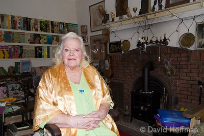 Joan Rhodes (13 April 1921 - 30 May 2010) at her home in London 5 April 2009