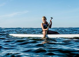 Standup paddle surfing on Mors, Denmark 5