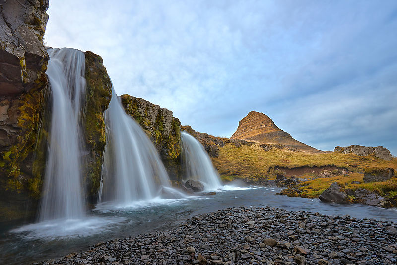 Iceland | Kirkjufell waterfalls acrylic wall art