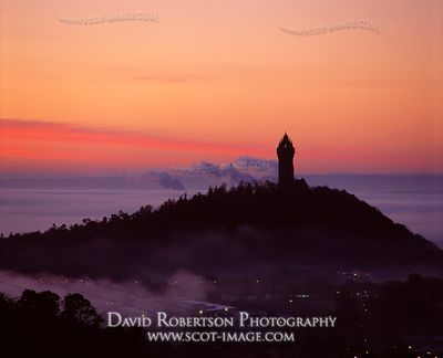 Image - Wallace Monument, Stirling, Scotland, Sunrise