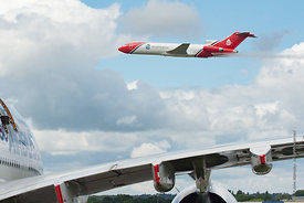 #121004,  Boeing 727 of Oil Spill Response, Farnborough Air Show, 2016.  The aircraft has been adapted to spread dispersing c...