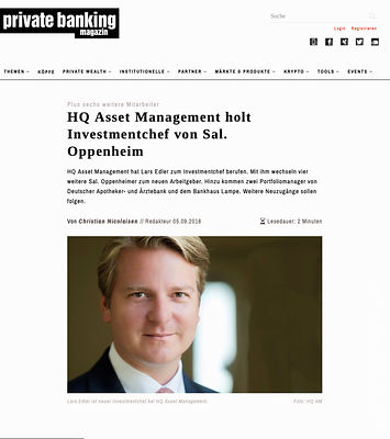 Private Banking - HQ Asset Management