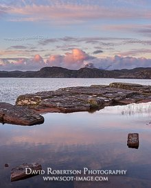 Image - Suilven viewed across the sea at sunset, Wester Ross, Highland, Scotland