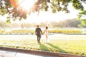 Wedding Couple portrait in the park