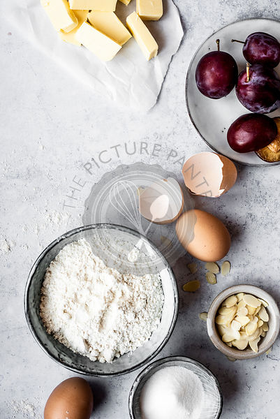 Sweet Short Crust Pastry And Ingredients