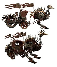 Steampunk Ostrich Carriage