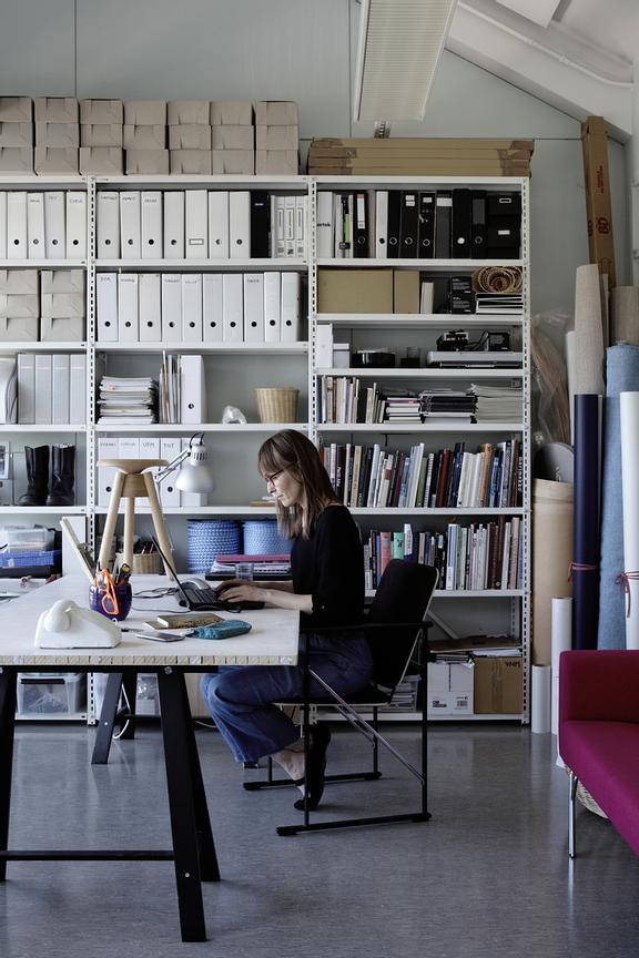 Saara Renvall in her workroom.
