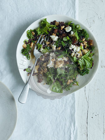 Kale and Wild Rice Salad with Maple dressing